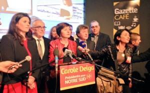 Comme pour le Département, vous avez choisi une majorité de gauche pour mener à bien les nombreuses missions qui incombent au Conseil Régional Ci dessous : Carole DELGA, Présidente de la nouvelle région.